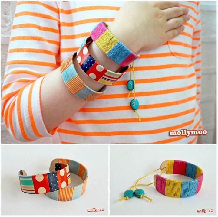 Quick DIY Popsicle Stick Bracelets