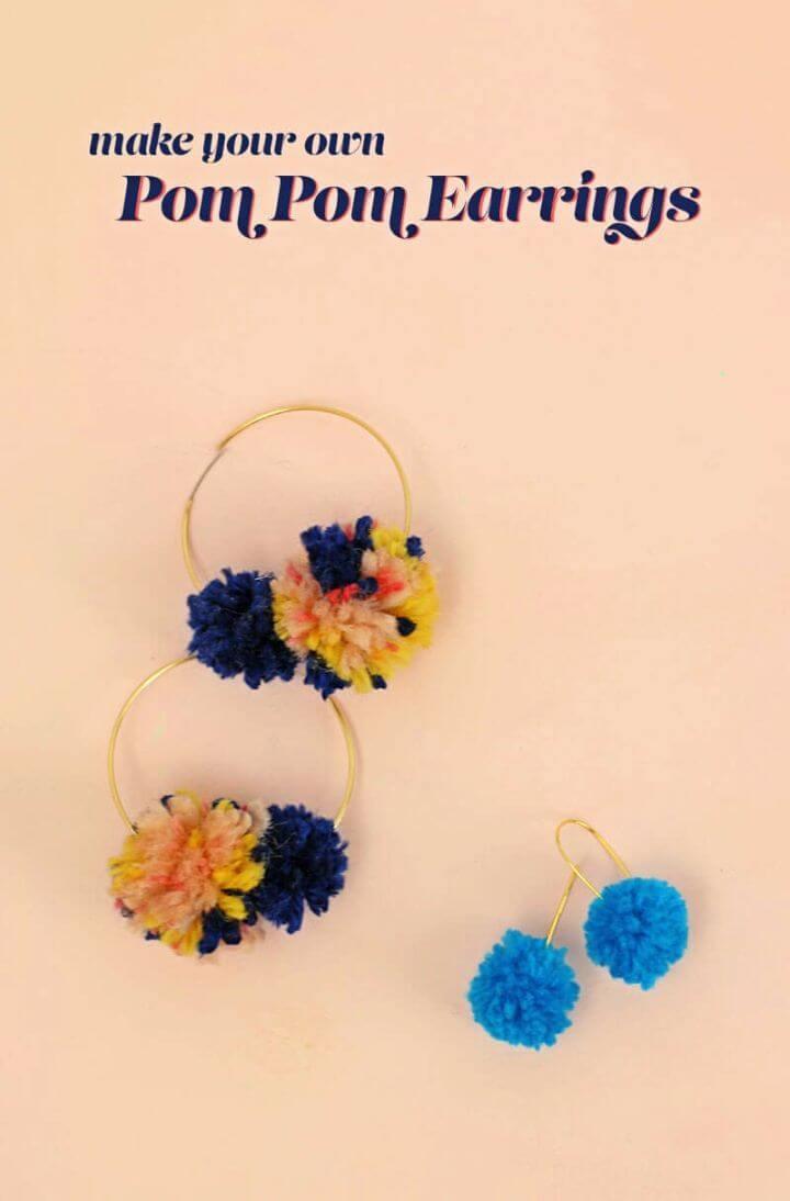 Quick and Easy DIY Pom Pom Earrings