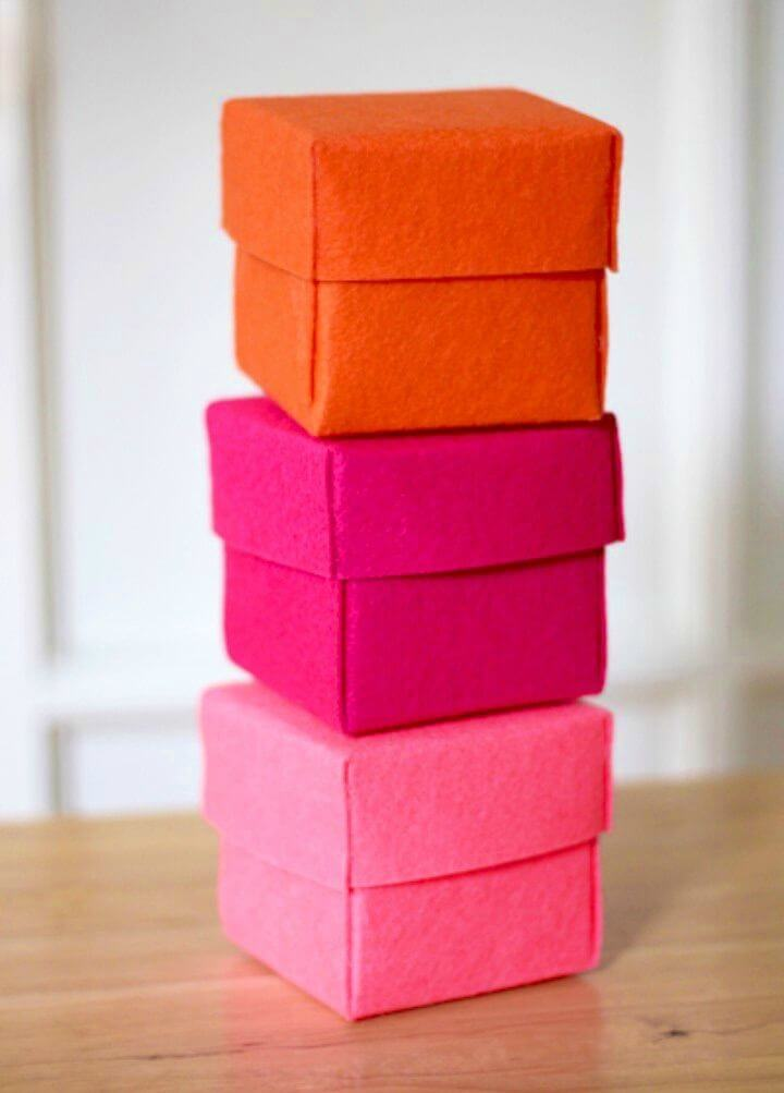 Quick and Easy DIY Stiffened Felt Boxes