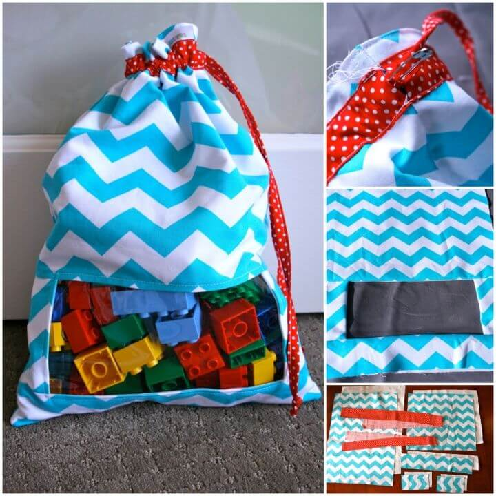 Sew Peek A Boo Toy Sack Toy Storage Idea