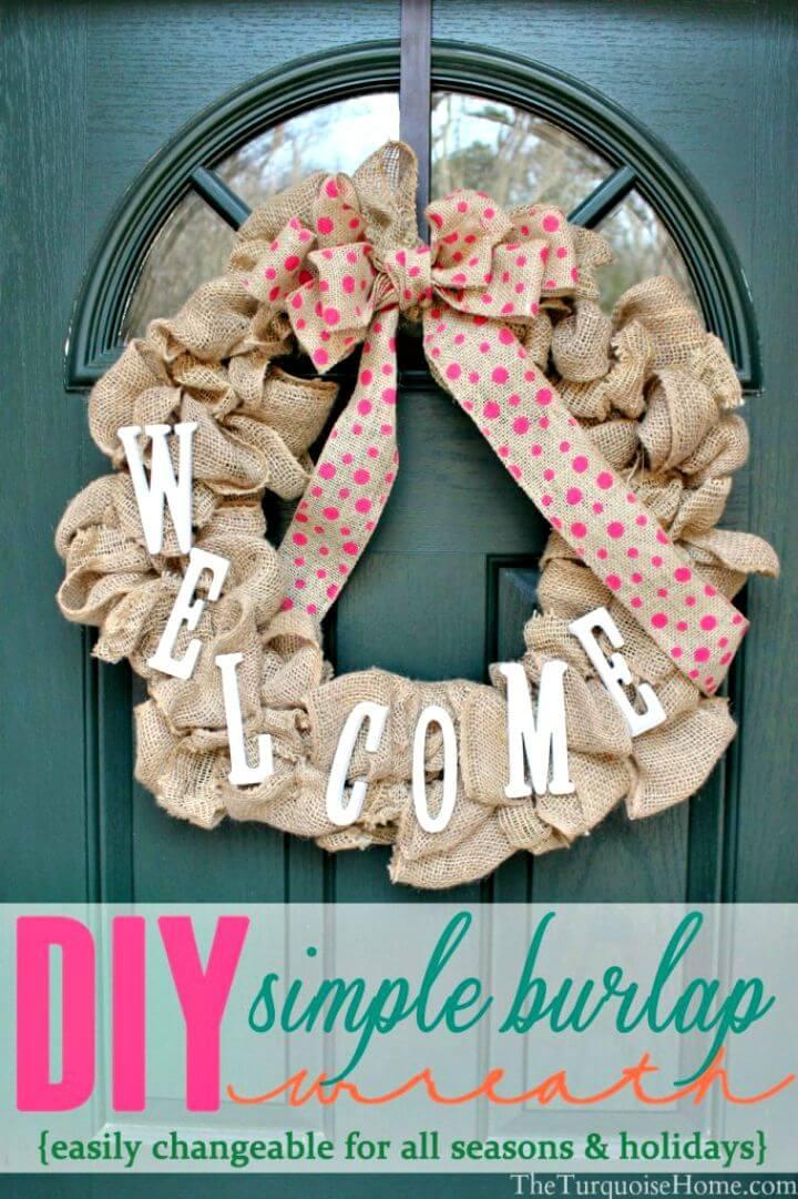 Simple DIY Burlap Wreath