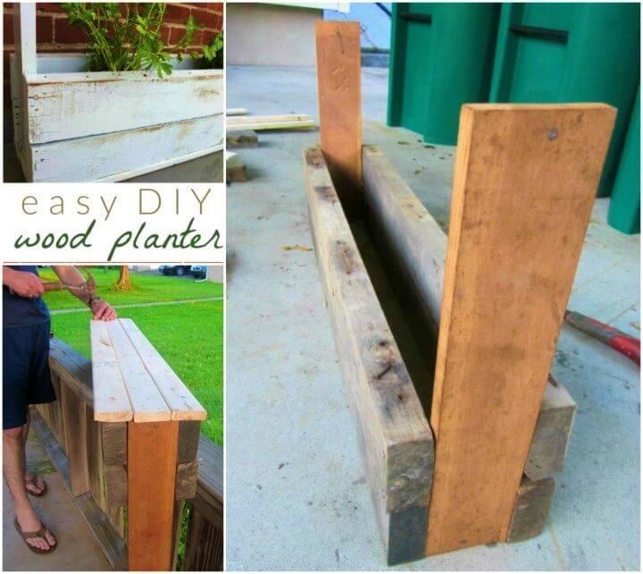 Simple DIY Outdoor Pallet Planter Box