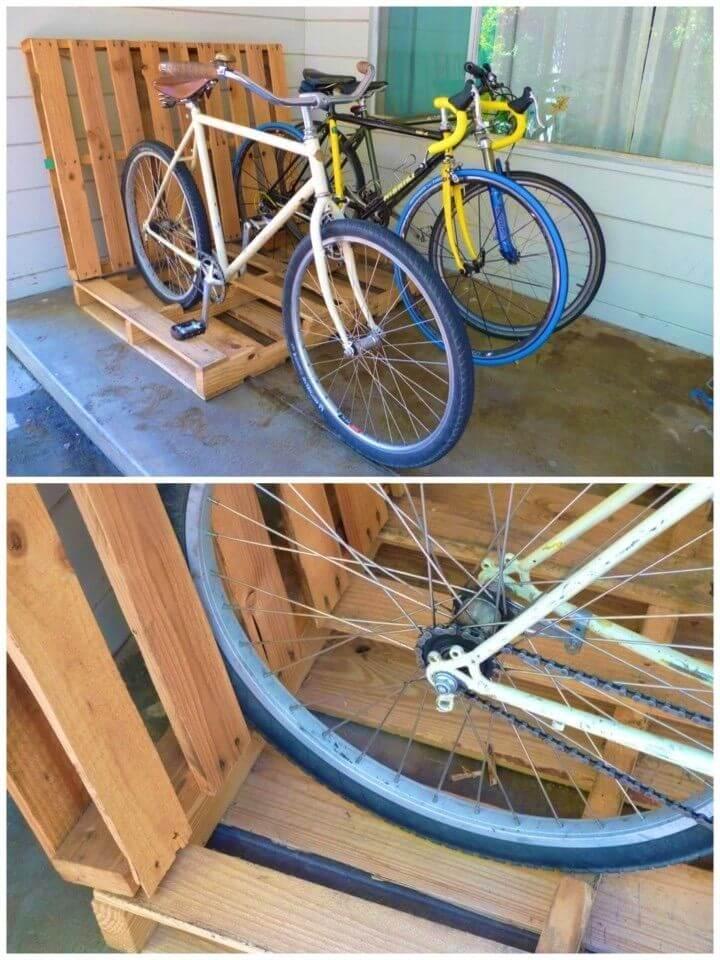 Simple DIY Pallet Bike Rack