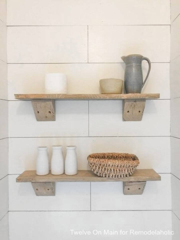 Simple DIY Rustic Farmhouse Shelves