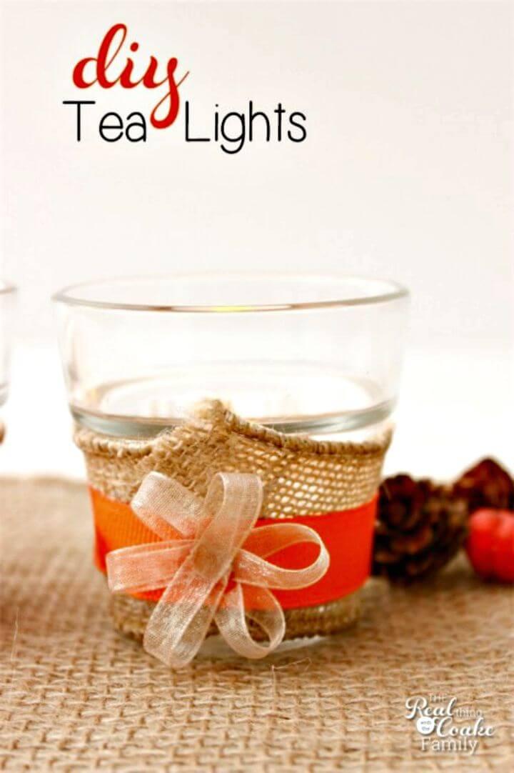 Simple DIY Tea Lights for the Table