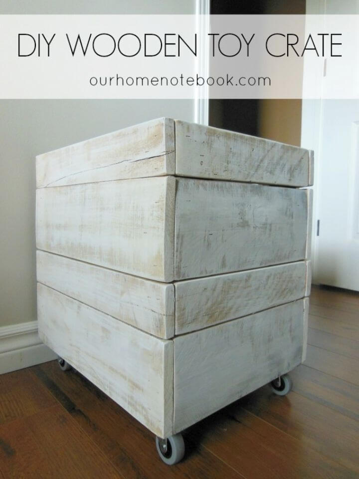 Simple DIY Wooden Toy Crate