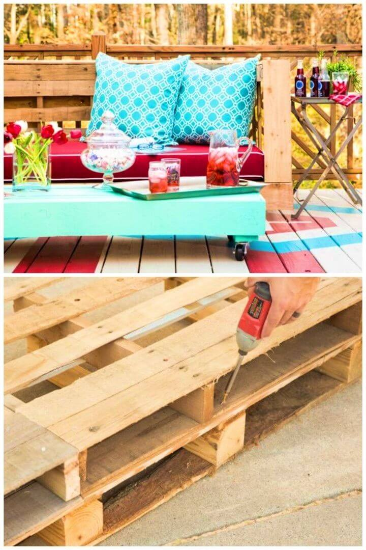 Stylish DIY Outdoor Pallet Seating