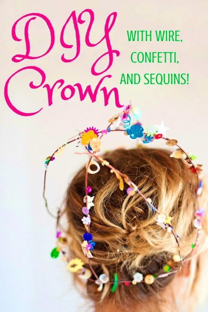 Super Easy to Make Sequins Wire Crown