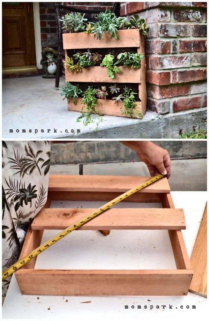 Adorable DIY Cedar Pallet Succulent Planter