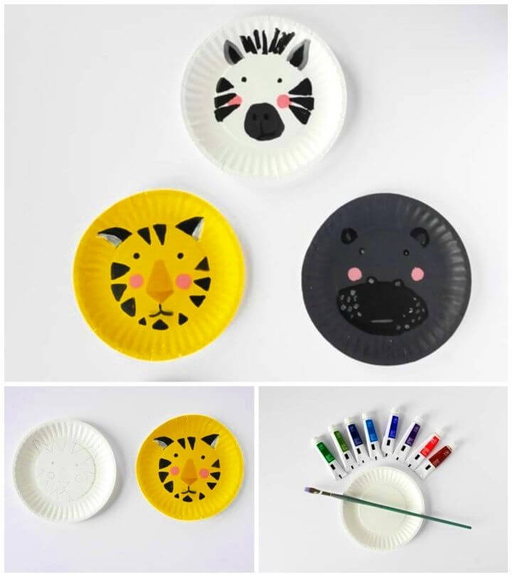 Awesome DIY Animal Paper Plate Faces
