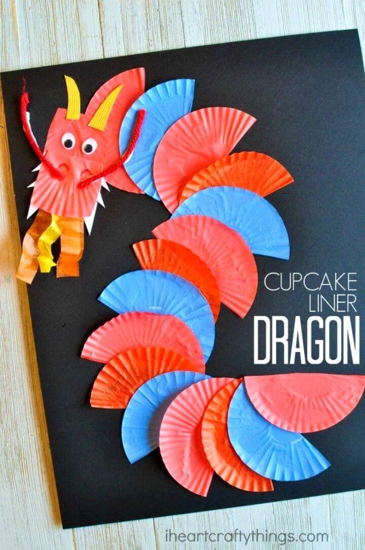 Awesome DIY Cupcake Liner Dragon Craft