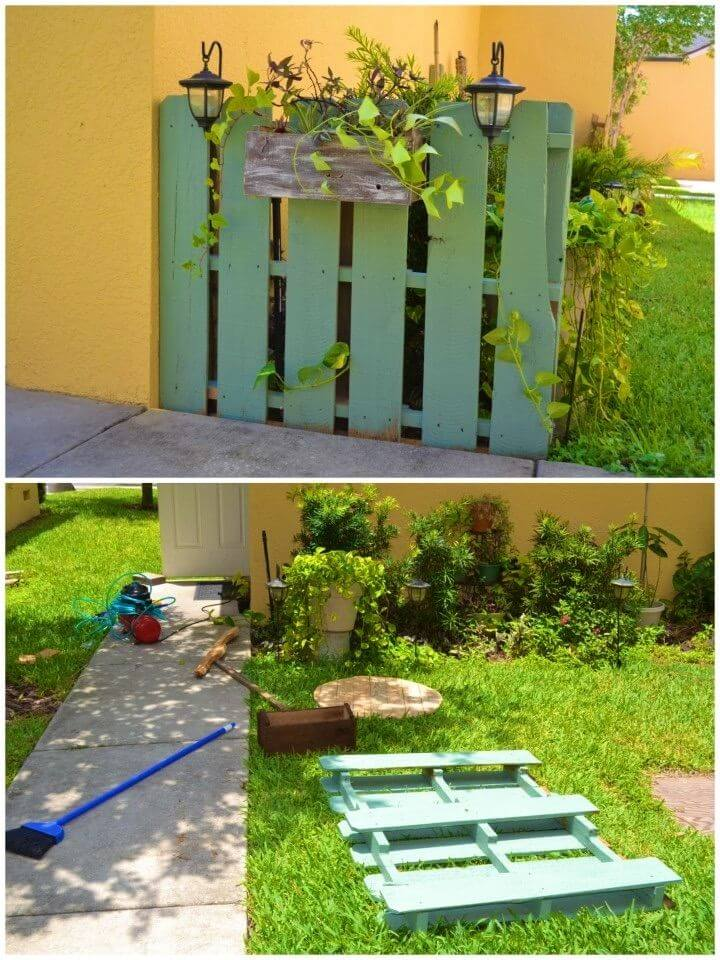 Awesome DIY Garden Pallet Project