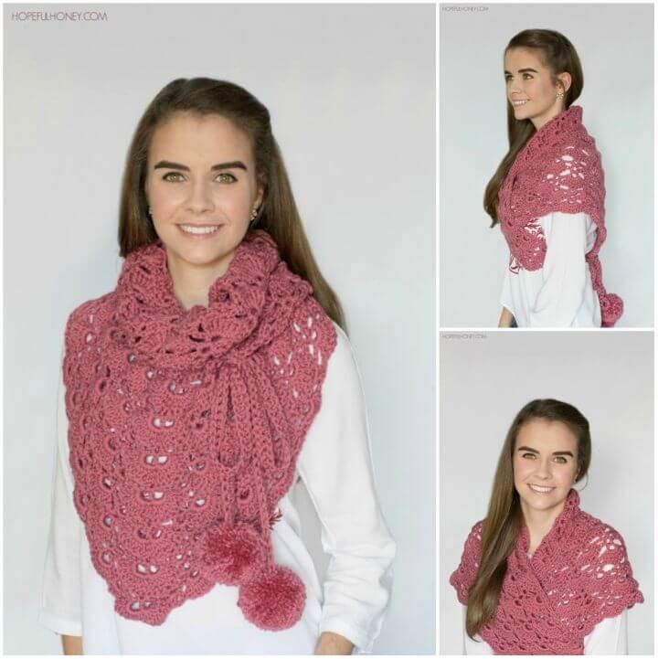 Beautiful Crochet Budding Orchid Scarf and Shawl Free Pattern