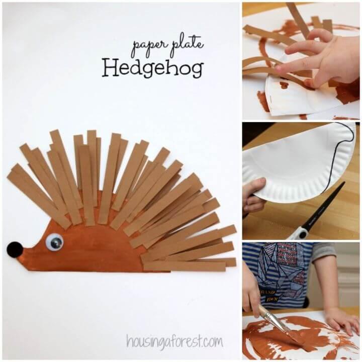 Create Paper Plate Hedgehog