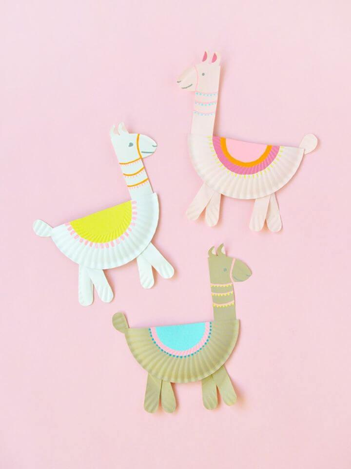 Create Paper Plate Llamas