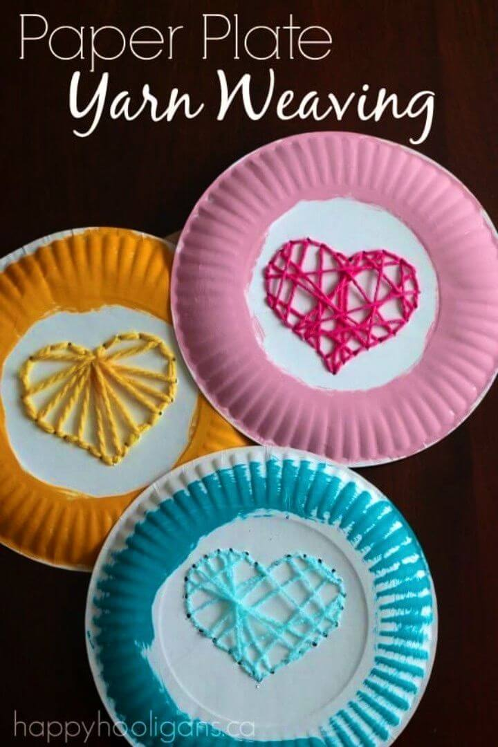 Create Paper Plate Yarn Weaving Activity for Kids