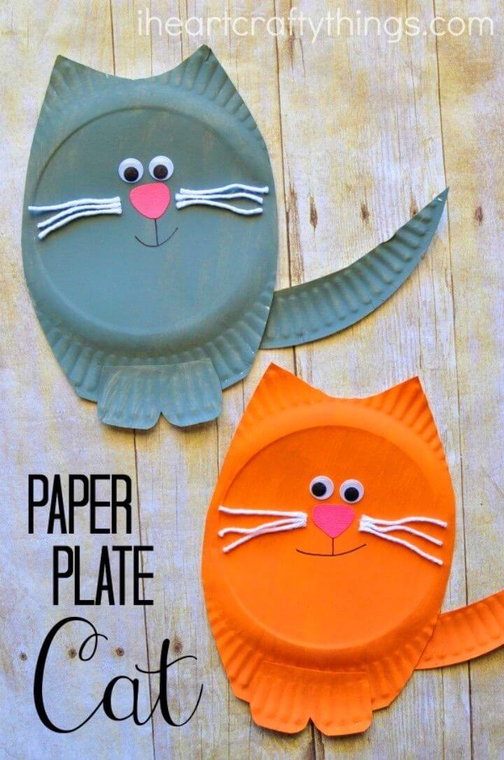 Create a Paper Plate Cat Craft