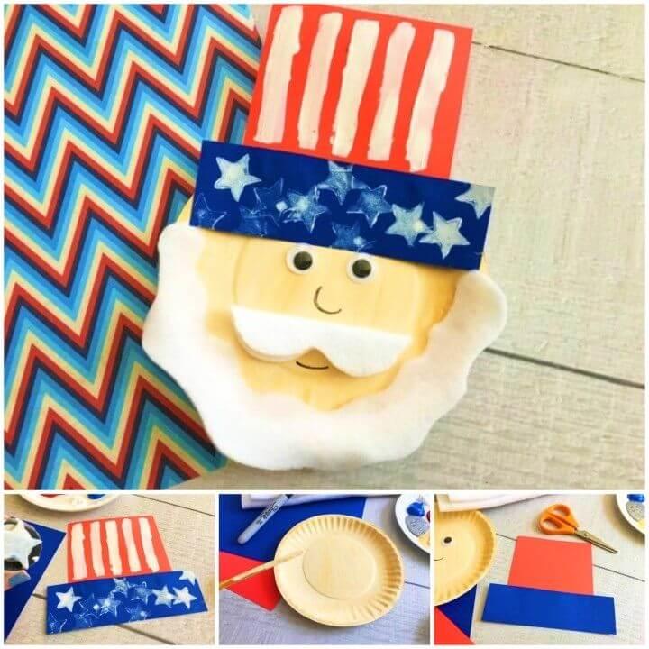 Create a Uncle Sam Paper Plate Craft