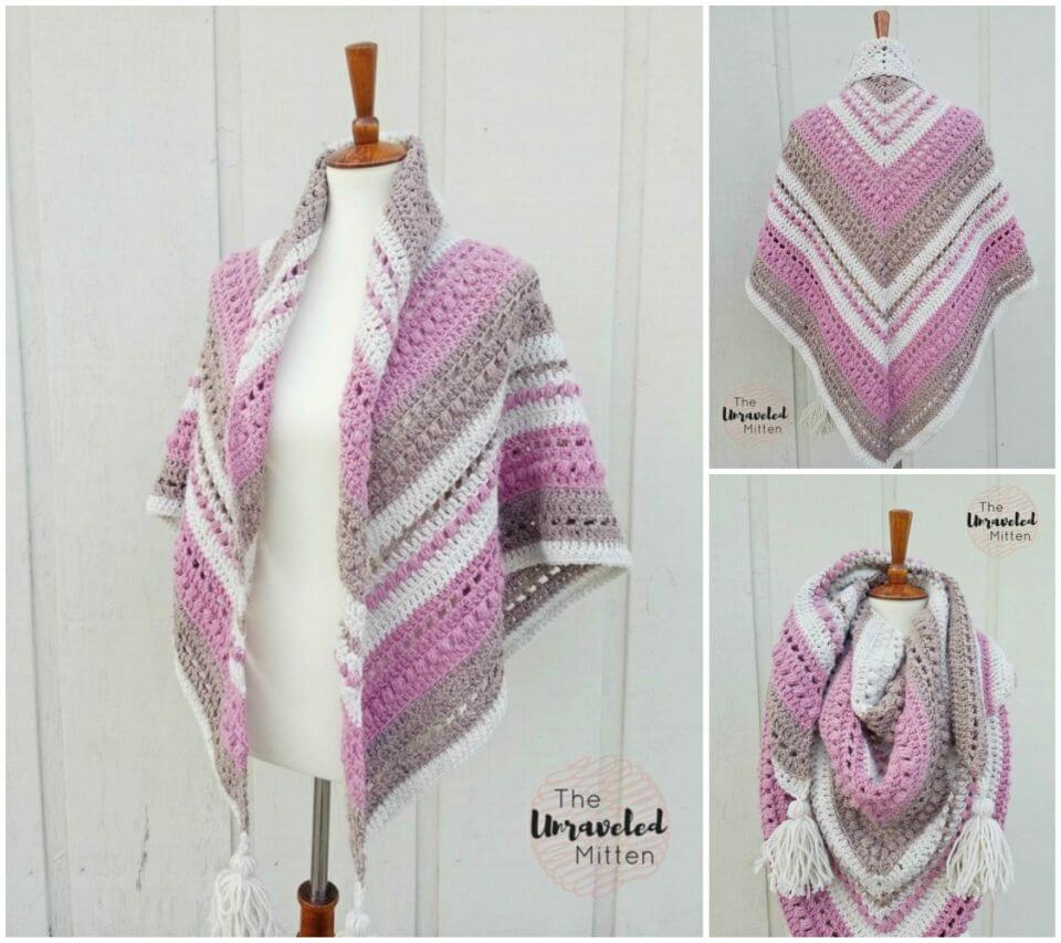Crochet Love Shawl Free Pattern