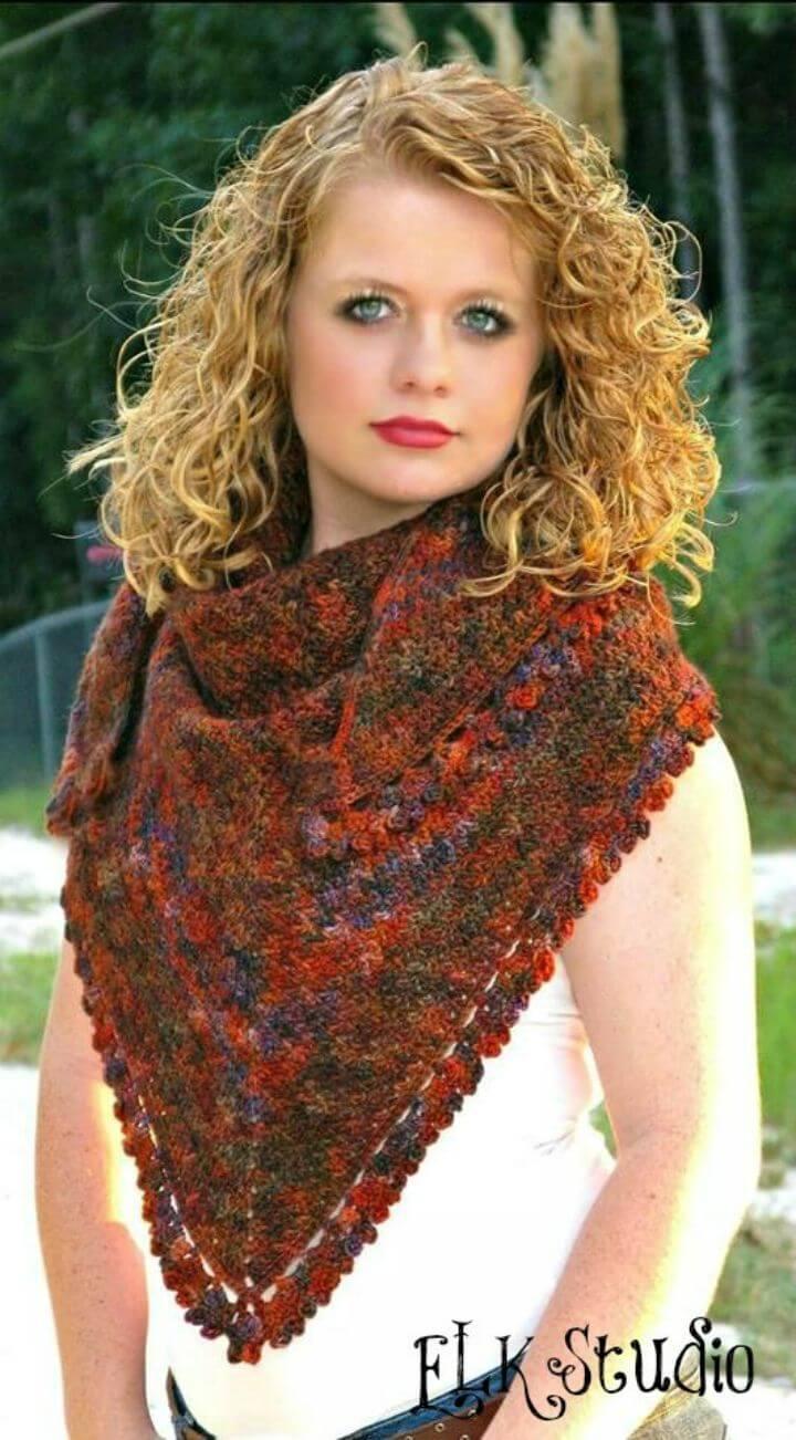 Crochet Pumpkin Spice Shawl Free Pattern