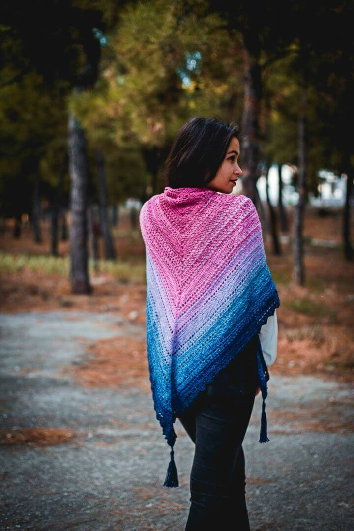 Crochet Samurais Wisdom Shawl Free Pattern
