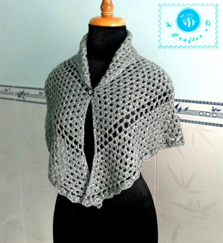 Crochet Silver Glam Shawl Free Pattern