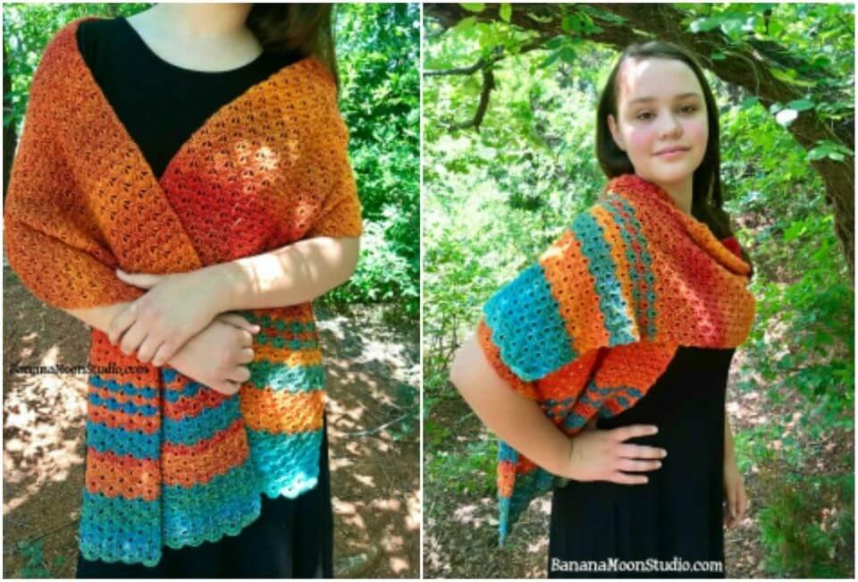 Crochet Sonoran Sunset Wrap Free Pattern