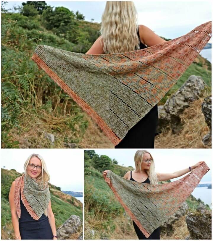 Crochet Space Fade Shawl Free Pattern