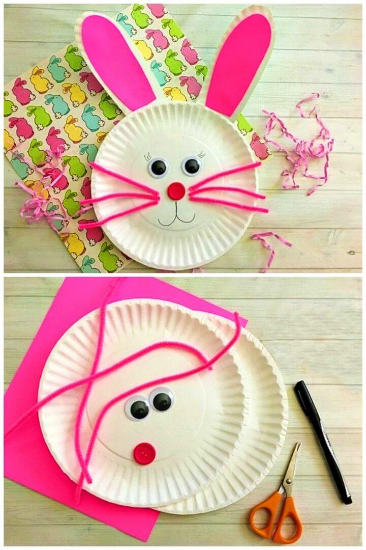Cute DIY Bunny Paper Plate Craft for Kids