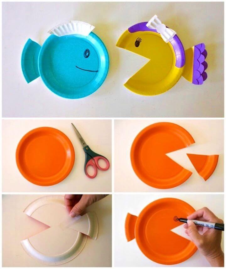 Cute DIY Paper Plate Fish Idea