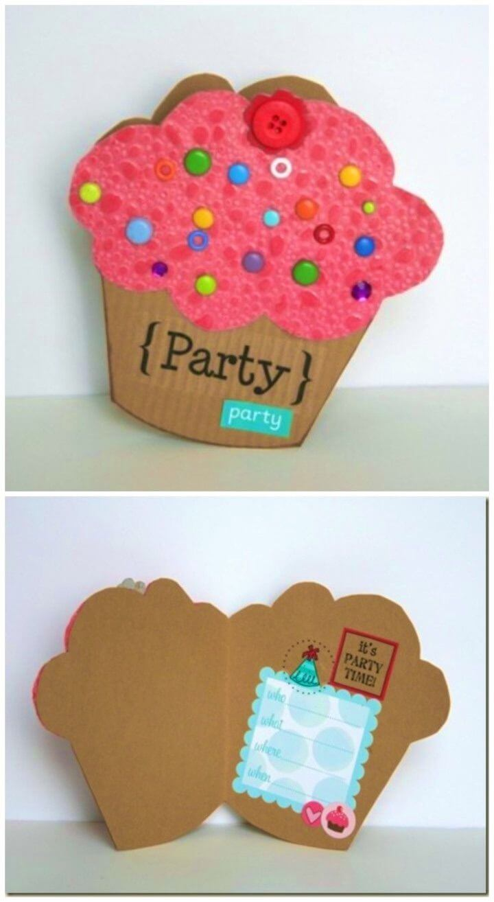 DIY Cupcake Birthday Card with Template