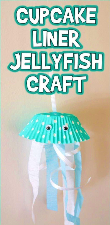 DIY Cupcake Liner Jellyfish Craft