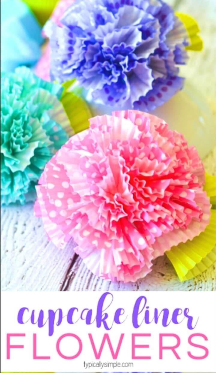 DIY Flowers Cupcake Liners Craft