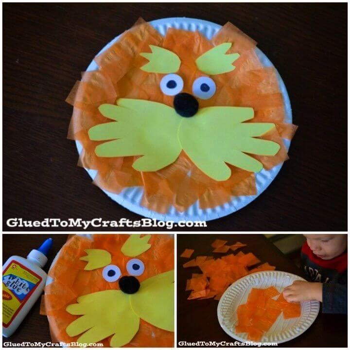DIY Lorax Paper Plate Craft