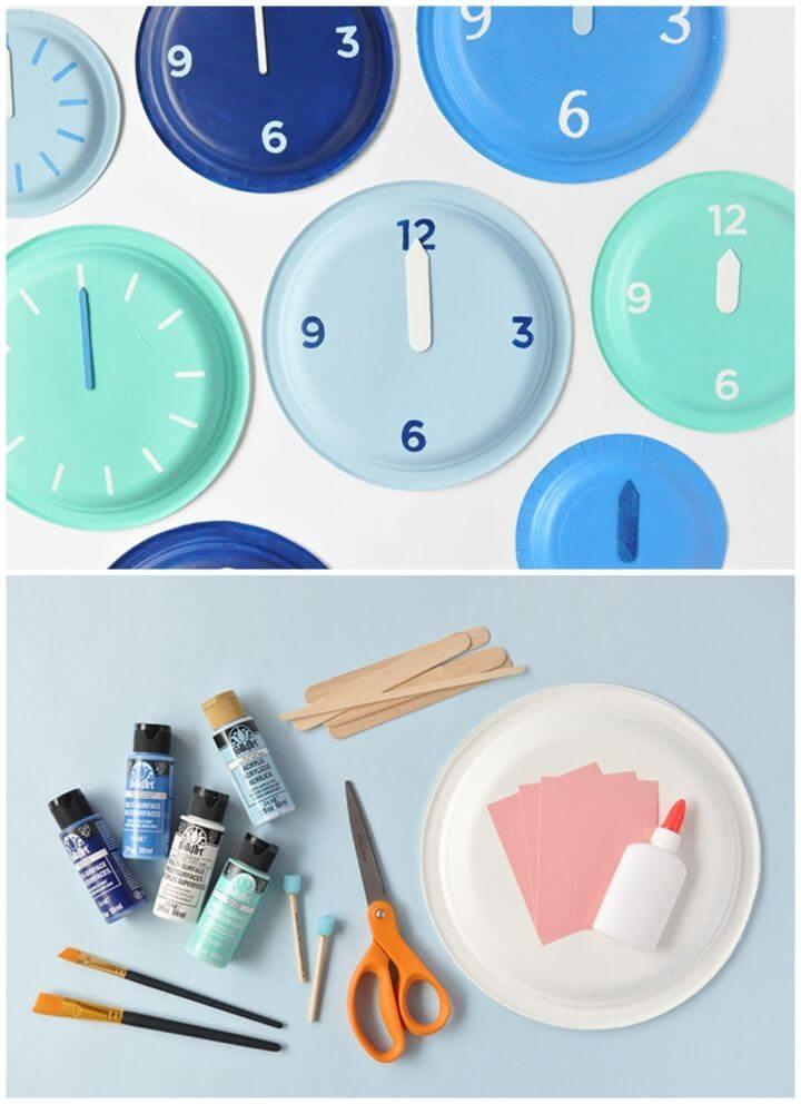 DIY New Year's Eve Paper Plate Clocks