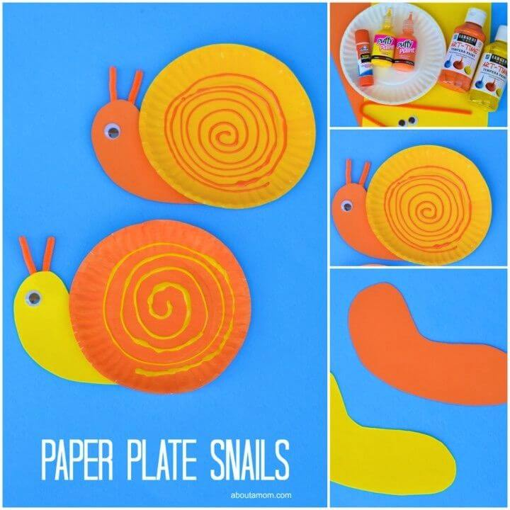 DIY Pape Plate Snail Craft For Kids