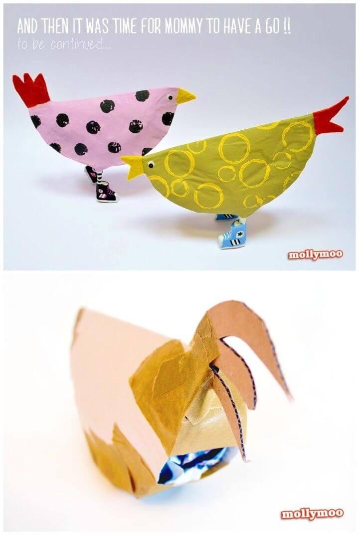 DIY Paper Plate Chicken Crafts