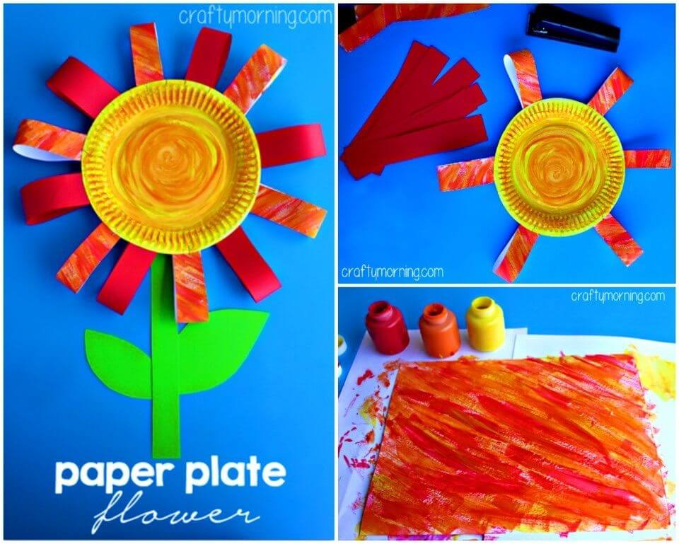 DIY Paper Plate Flower Craft for Kids, adorable flowery DIY paper plates