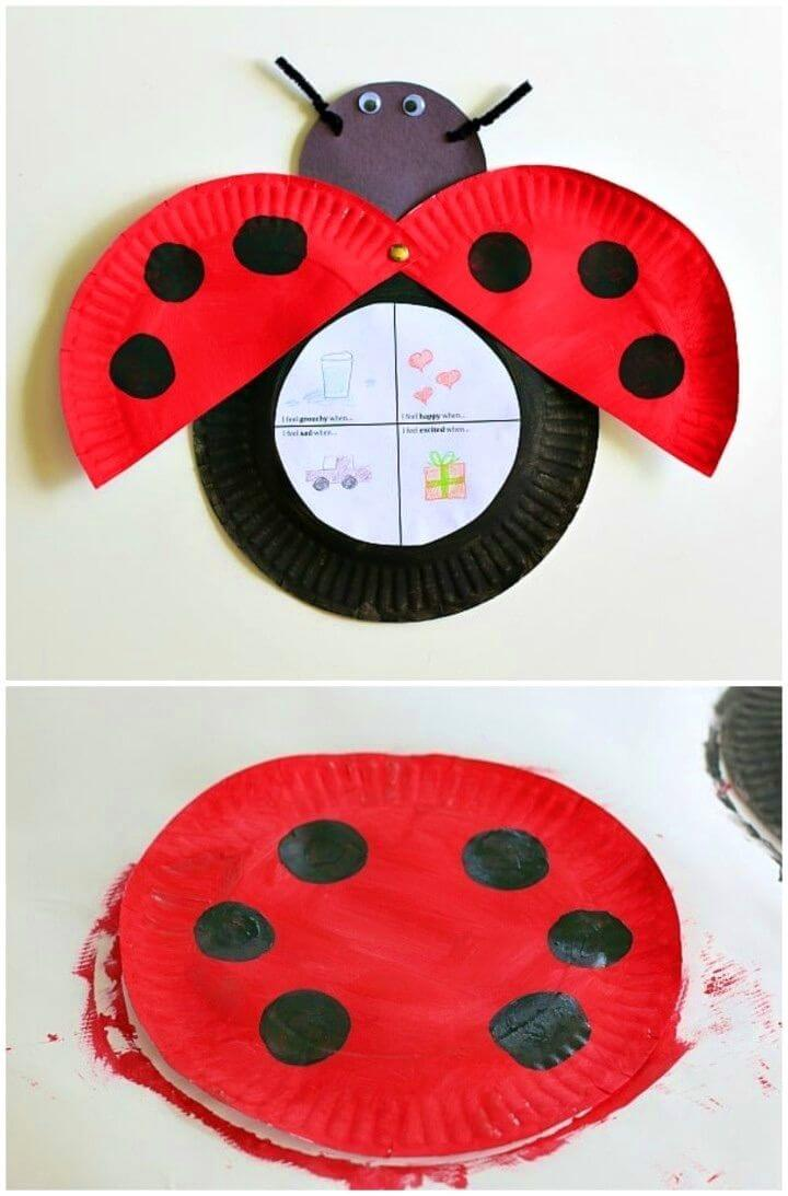 DIY Paper Plate Grouchy Ladybug Craft for Kids