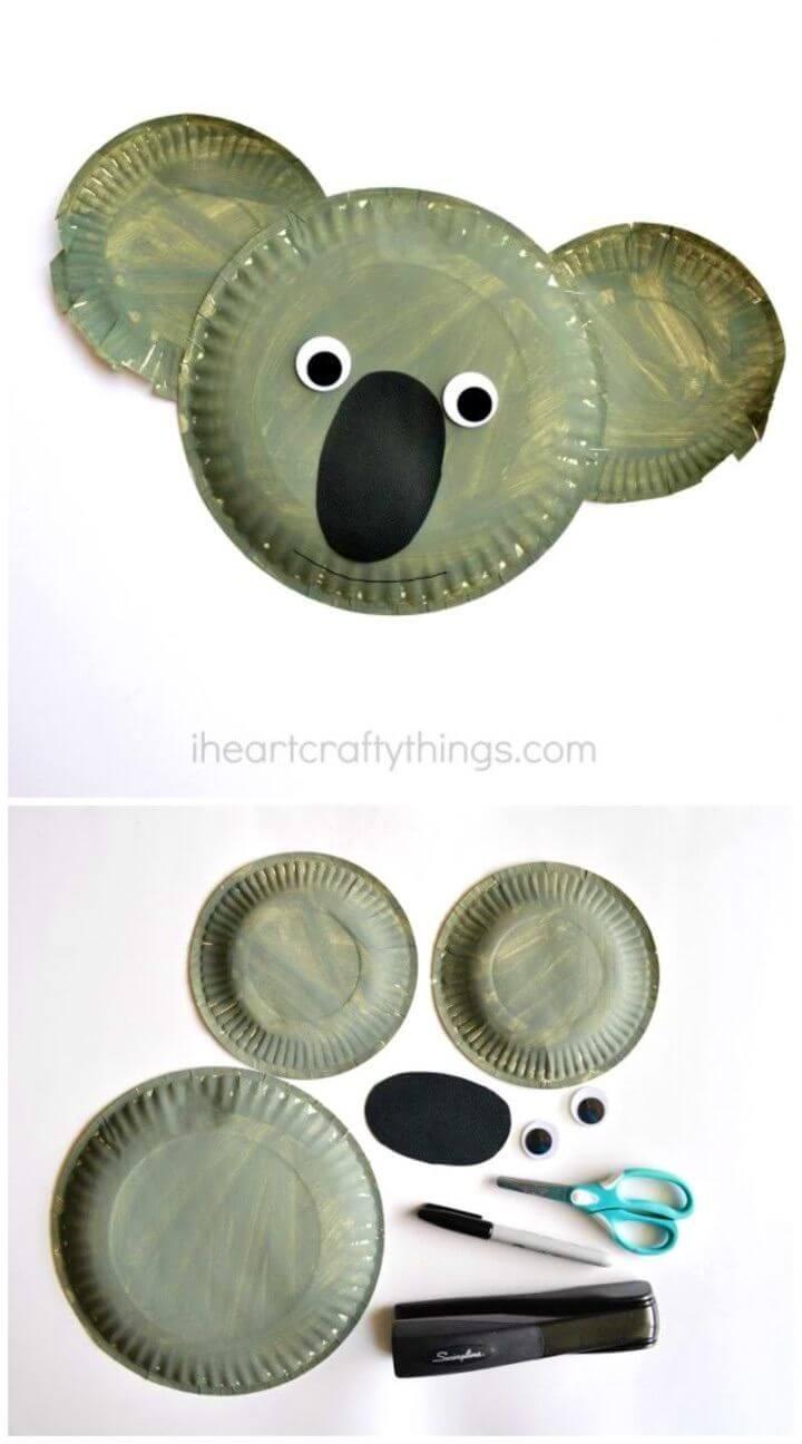 DIY Paper Plate Koala Kid Craft