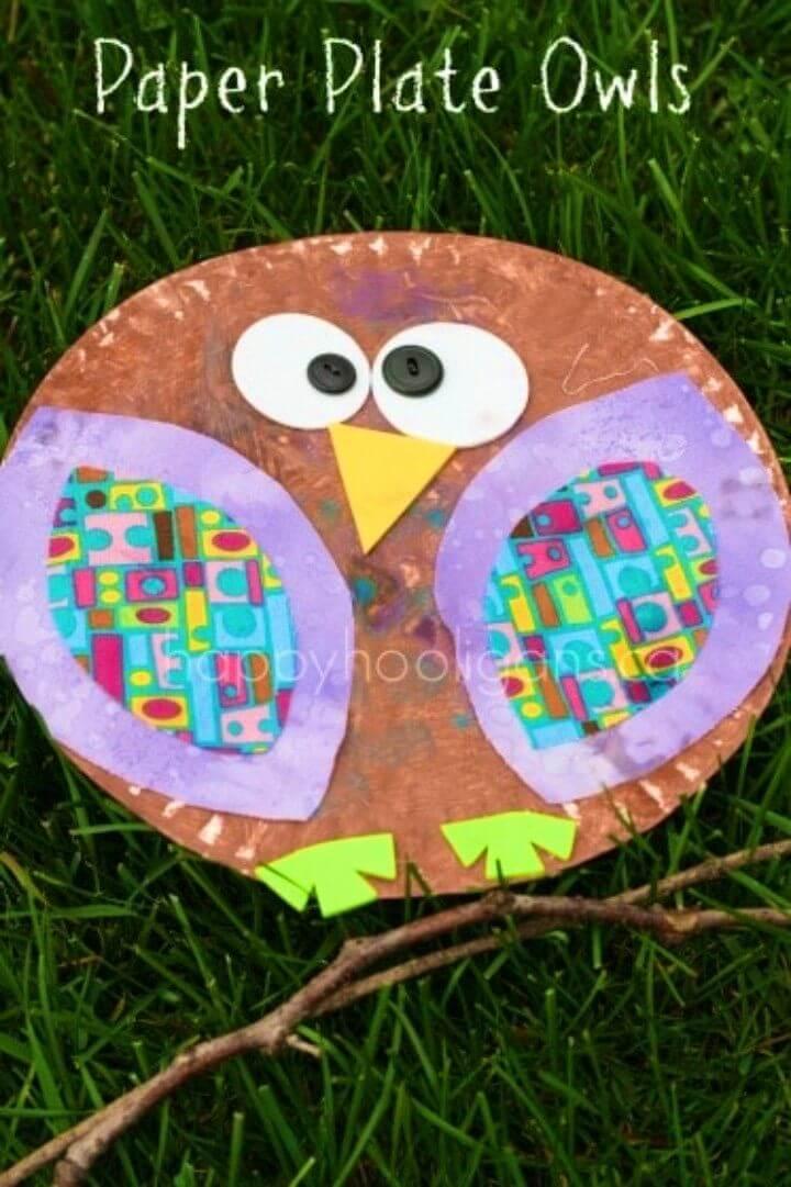 DIY Paper Plate Owls