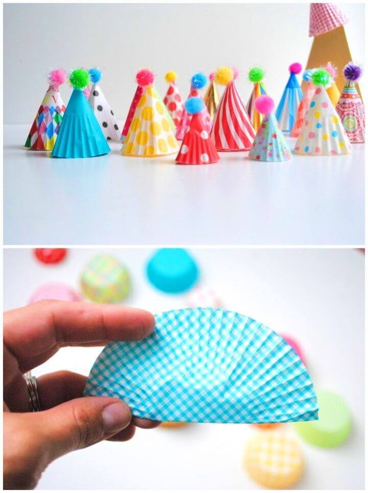 DIY Party Hat Cupcake Toppers
