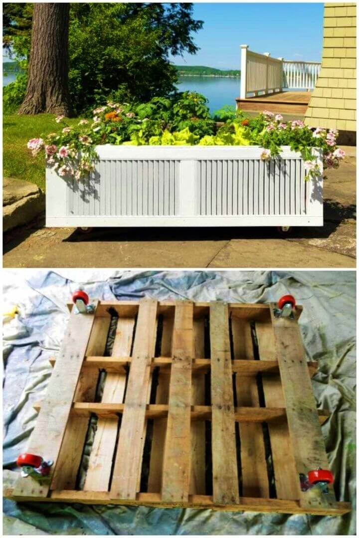 DIY Raised Garden Bed From an Old Shipping Pallet