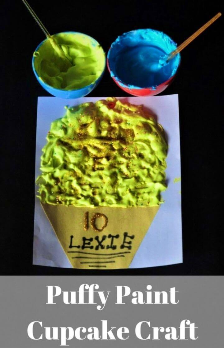 DIY Sensory Puffy Paint Cupcake