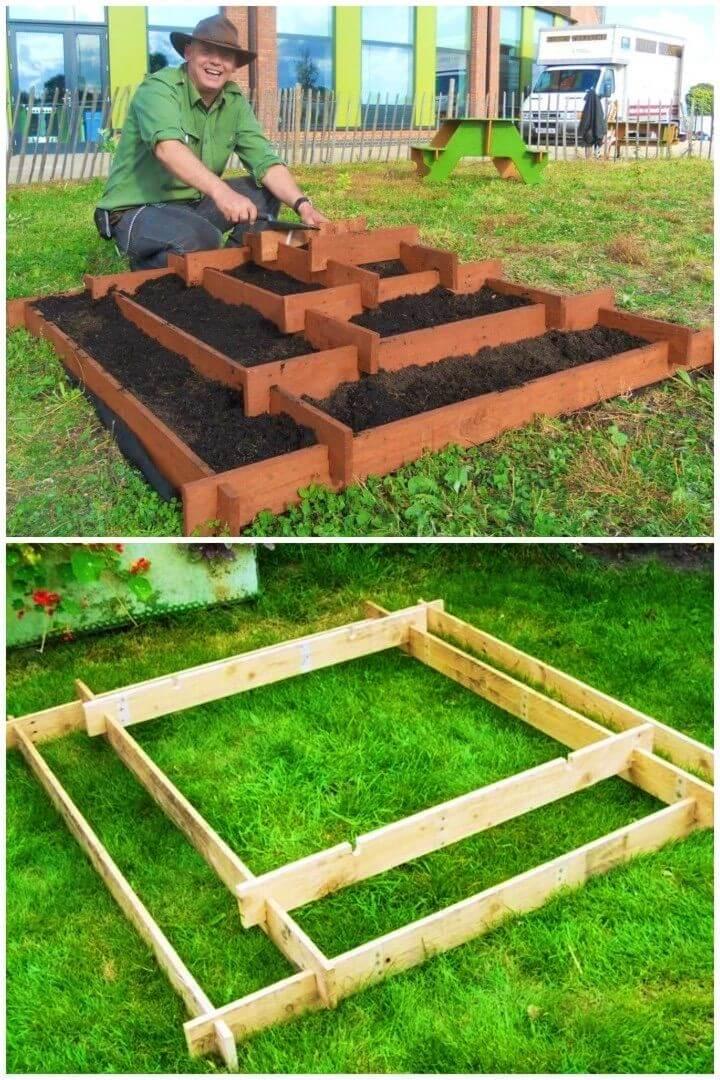 DIY Slot Together Pyramid Garden Planter