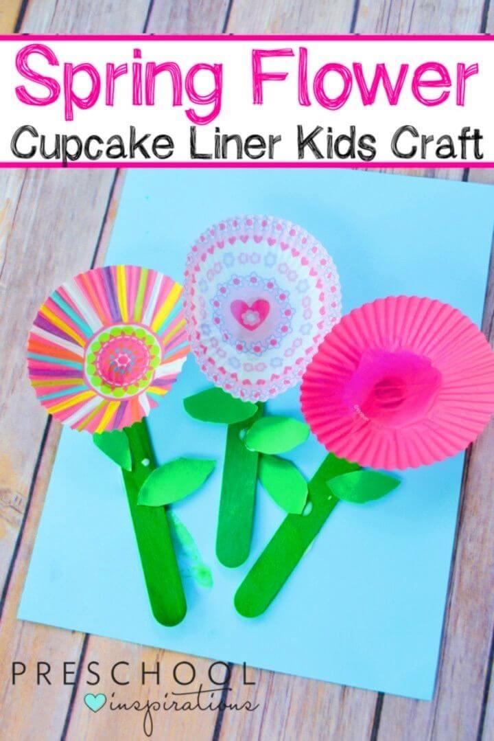 DIY Spring Cupcake Liner Flowers Craft
