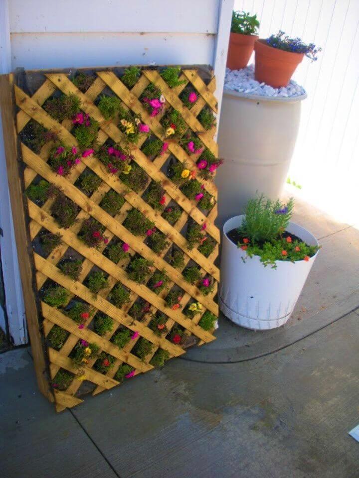 DIY Vertical Pallet Flower Garden