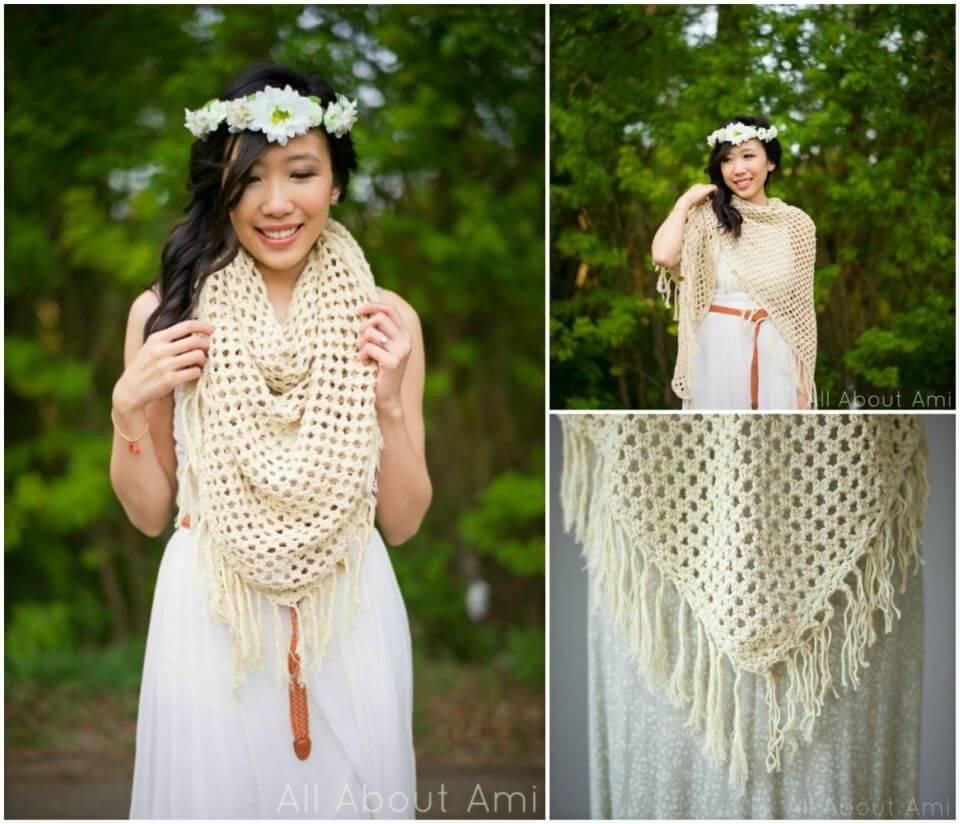 Easy Crochet Boho Wrap Free Pattern