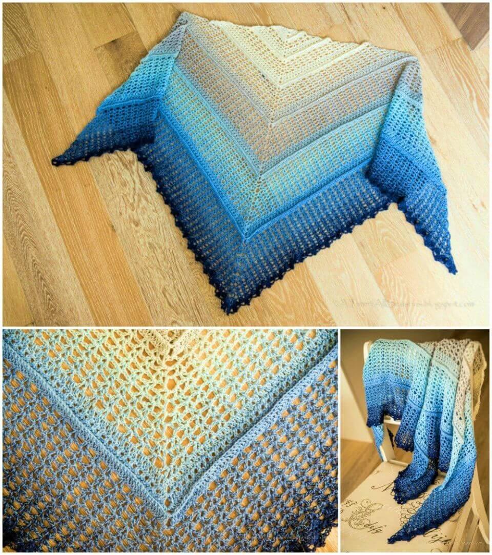 Easy Crochet Shawl Free Pattern