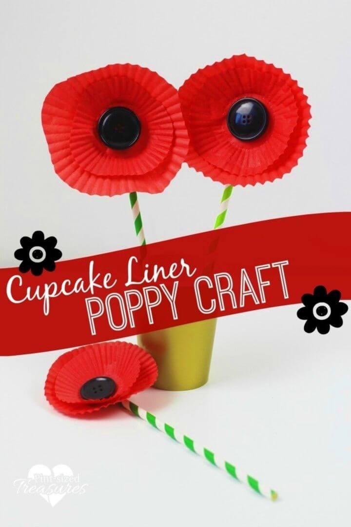Easy DIY Cupcake Liner Poppy Craft